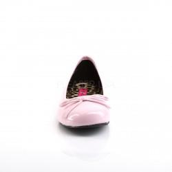 Zapatillas bajas de ballet en charol brillante tallas grandes 40 a 48
