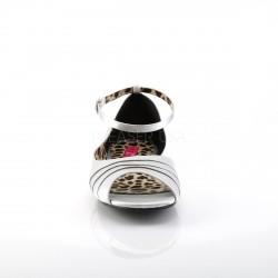 Zapatos bajos de satén estilo D'Orsay con correa tallas grandes 40 a 48