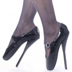 Zapatilla de ballet con tacon de aguja extraalto