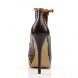 Elegantes zapatos Pin Up con plataforma y puntera abierta con correa