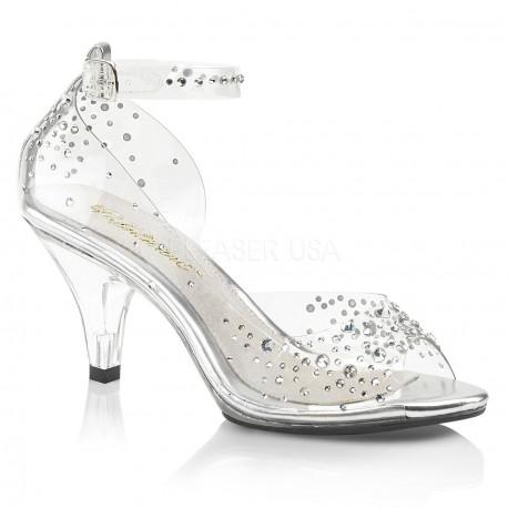 c87b785e2fb58 Zapatos transparentes efecto cristal y pedrería brillante talla 35 a 48