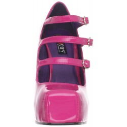 Novedoso zapato con correas y punta cuadrada