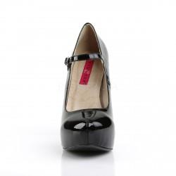 Zapatos de charol con plataforma y correa tallas grandes de 40 a 48