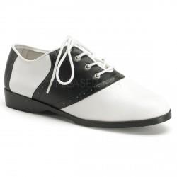 Zapato plano acordonado linea retro