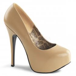 Zapatos Bordello con cómoda plataforma cubierta y tacón de aguja