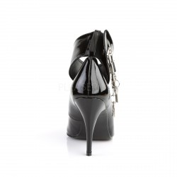 Zapato con pulsera ancha y candados en tobillo
