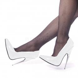 Zapatos fetichista de dóminas tacón de aguja metálico de talla 35 a 46
