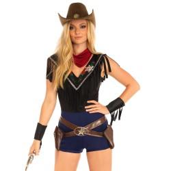 Disfraz carnaval Sheriff del Salvaje Oeste de 4 pcs Leg Avenue Luxury