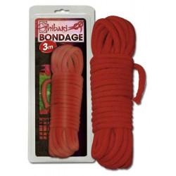 Cuerda trenzada para Bondage de 3 mt rojo