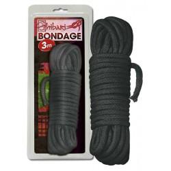 Cuerda trenzada para Bondage de 3 mt negro