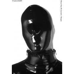 Mascara integral unisex de látex con cierre cremallera