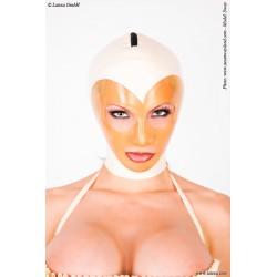 Mascara de látex anatómica en contraste
