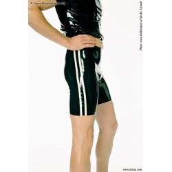 Short de talle alto de látex con lineas
