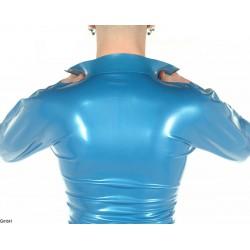 Camisa de látex con cierre de cremallera