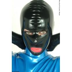 Mascara unisex de látex con orificios ojos, boca nariz