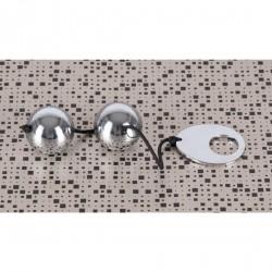 Bolas chinas de metal pulido macizo con anilla