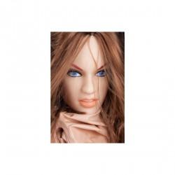 Muñeca inchable con la cabeza, pelo pezones con realismo Suzie Carina