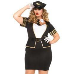 Leg Avenue disfraz sexy azafata altos vuelos de 4 piezas hasta talla XXXL