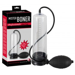 "Bomba de succión para pene ""Mister Boner"" de 25 cm con bomba de mano"