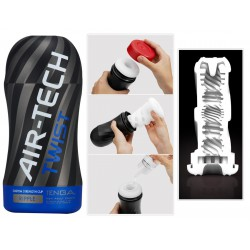 "Masturbador ""Tenga Air Tech Twist"" ranurado y ajustable en 5 niveles"
