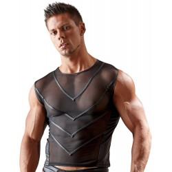 ¡Sensual mezcla de tejidos! Slip hombre estilo tanga tejido brillante