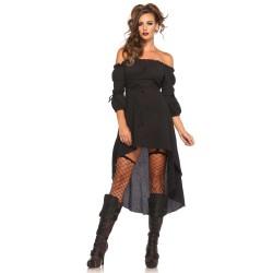 Vestido para disfraz en 3 colores de estilo campesina corte asimétrico