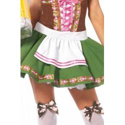 Dizfraz de increible calidad que incluye vestido de campesina con lazada