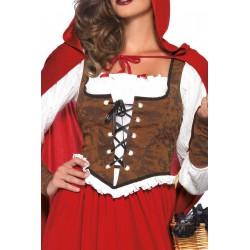 Disfraz sexy para mujer de capeucita roja 3 piezas marca Leg Avenue