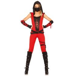 Leg Avenue disfraz sexy de ninja asesina compuesto por 4 piezas