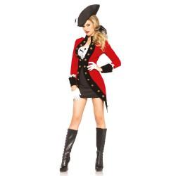 Leg Avenue disfraz sexy de pirata rebelde compuesto por 4 piezas
