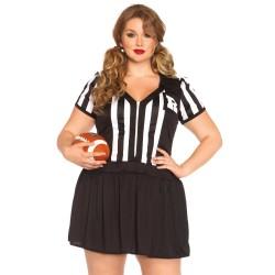 Leg Avenue disfraz de arbitro de futbol de 1 pieza hasta talla XXXL