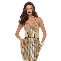 Leg Avenue lujoso disfraz carnaval de Sirena Dorada