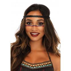 Leg Avenue Disfraz de carnaval de guerrera india formado por 4 piezas