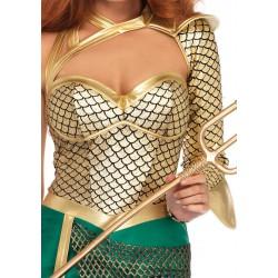 Leg Avenue Disfraz carnaval de sirena guerrera de 2 piezas