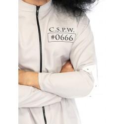 Disfraz masculino de paciente mental de siquiátrico de 2 piezas