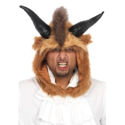 Leg Avenue capucha para disfraz de bestia temible con cuernos