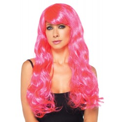 Peluca de fantasía con cabello largo en 2 colores