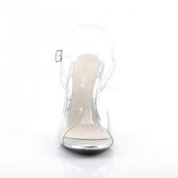 Sandalias transparentes efecto cristal y purpurina brillante iridiscente