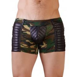 Boxers largos masculinos con diseño de camuflaje y acolchados