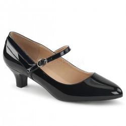 Zapatos de charol estilo Mary Jane con correa y tacón bajo talla 40 a 48