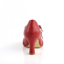 Zapatos Pin Up de polipiel estilo Mary Jane con doble correa cruzada