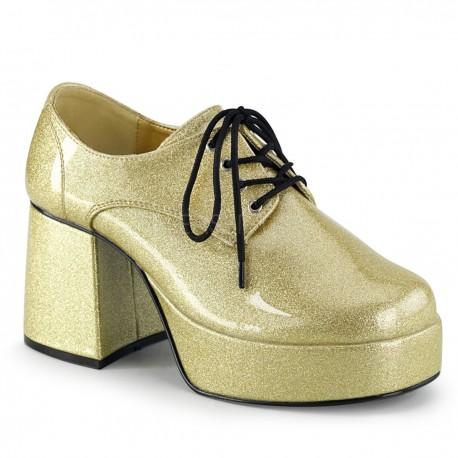 Zapato plataforma retro purpurina