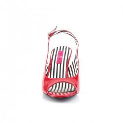 Sandalias de charol con tacón y abiertas en tallas grandes de 40 a 48