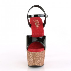 Sandalias Pleaser de Pole Dance con purpurina brillante efecto degradado