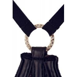 Elegante conjunto erótico de 3 piezas y diseño provocador con ligueros