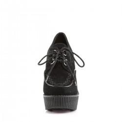 Zapatos creepers plataforma cuña acordonados terciopelo talla 36 a 42
