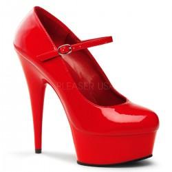 Zapato alto con tira en el empeine