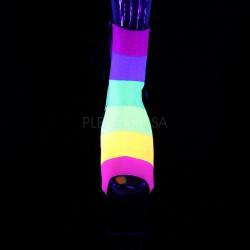 Botines multicolor neón plataforma Pole Dance ADORE-1018RBG T-35 a 42