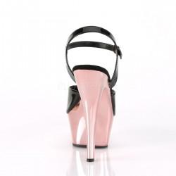 Pole dance KISS-209 sandalias plataforma metalizada con correa al tobillo