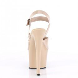 Pole dance SKY-308N sandalias empeine vinilo de color y correa al tobillo